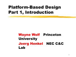Platform-Based Design - Princeton University