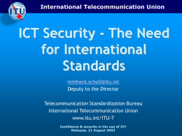 ITU-T: Strategies in Standardization