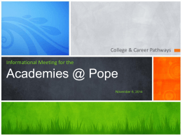 Informational Meeting for theAcademies @ …
