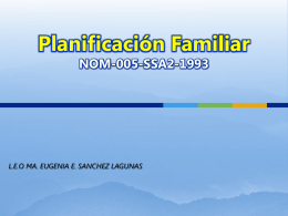 Planificacion Familiar NOM-005-SSA2-1993