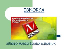 IBNORCA - auditoriasistemasucb / FrontPage