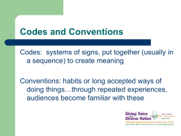 Codes and Conventions - Media Literacy Clearinghouse