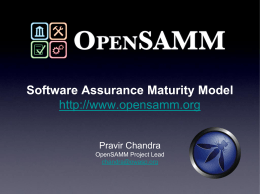 Software Assurance Maturity Model …