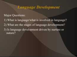Language Development - College of Charleston