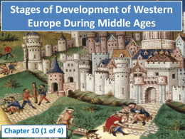 Stages of Development of Western Europe During …