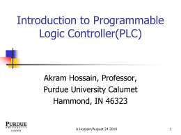 Introduction to Programmable Logic Controller(PLC)