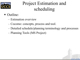 Project Estimation . ppt