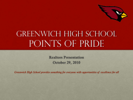 Greenwich High School Points of Pride
