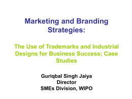 Marketing and branding strategies: Use of trademarks