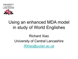 Using an enhanced MDA model in study of World …