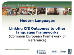 Modern Languages Common European Framework of …