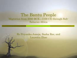 The Bantu People