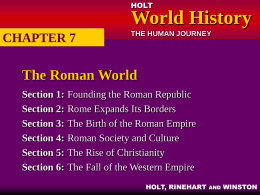 CHAPTER 7: The Roman World