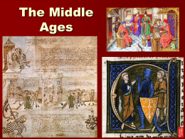 The Middle Ages - York Region District School Board