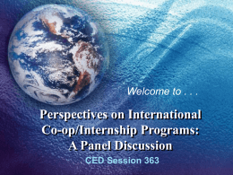 Perspectives on International Co