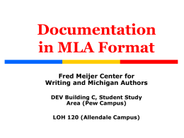 Documentation in APA Format