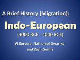 Indo-European (610 CE – 1900 CE)