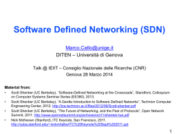 A Short History of SDN - ieiit