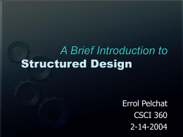 Structured Design - College of Charleston