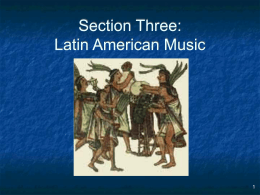 Latin American Music - Missouri State University