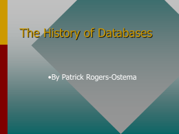 The History of Databases