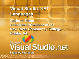 ppt title - New River Community College