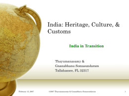India: Her Heritage and Culture