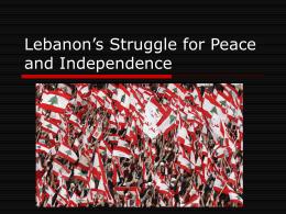 Lebanon's Cedar Revolution