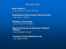 Puerto Rico - University of Dayton : Homepages
