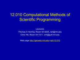 PowerPoint Presentation - 12.010 Computational Methods …
