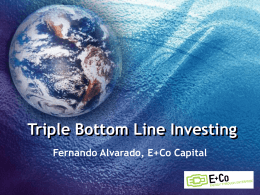 Triple Bottom Line Impact - Latin American Private Equity