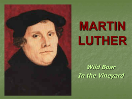 MARTIN LUTHER - NOBTS