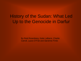 History of the Sudan: What Led Up to the Genocide in Darfur