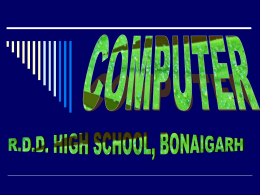 COMPUTER - Gyanpedia - creating learning communities