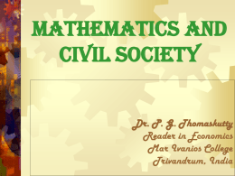 Mathematics and Civil Society