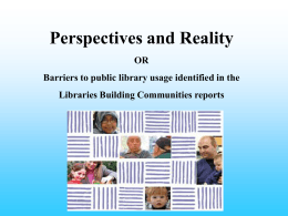 Libraries Building Communities