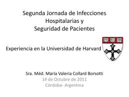 Segunda Jornada de Infecciones Hospitalarias y Seguridad