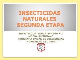 INSECTICIDAS NATURALES SEGUNDA ETAPA