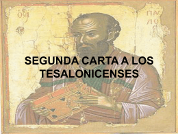 SEGUNDA CARTA A LOS TESALONICENSES