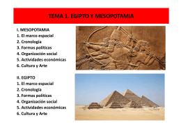 TEMA 1. EGIPTO Y MESOPOTAMIA