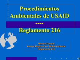 Reglamento Ambiental de USAID