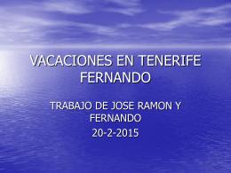 VACACIONES EN TENERIFE FERNANDO
