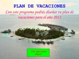 Plan de vacaciones 2009