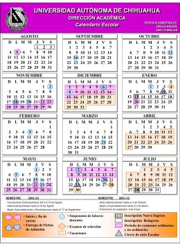 Calendario Escolar 1997-1998