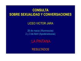 CONSULTA ESTUDIANTIL EN CONTACTO SEXUALIDADES …