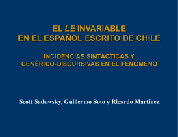 LE invariable en el castellano escrito de Chile