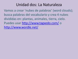 Unidad dos: La Naturaleza
