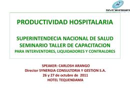 SNS PRODUCTIVIDAD HOSPITAL CARANGO