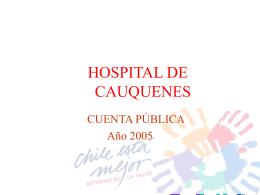 HOSPITAL CAUQUENES - Servicio de Salud Maule