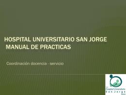 HOSPITAL UNIVERSITARIO SAN JORGE MANUAL DE …